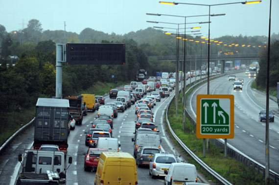TRAFFIC: Debris on A13