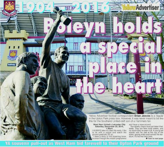 YA bids farewell to Upton Park with souvenir pull-out