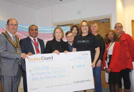 Basildon Council donates cash from LGBT bake-off to south Essex transgender charity Transpire